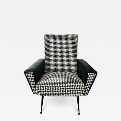 Mid Century Modern Armchair or Lounge Chair Black and White