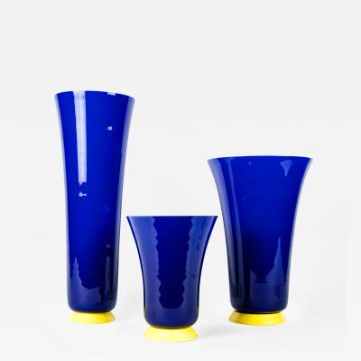 Mid Century Modern Art Deco Style Three Pieces Decorative Vases Pieces