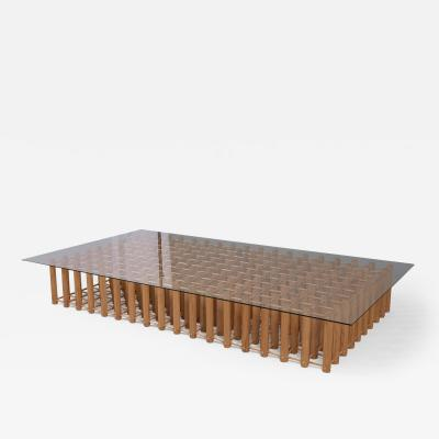 Mid Century Modern Arts Crafts Low Coffee Table