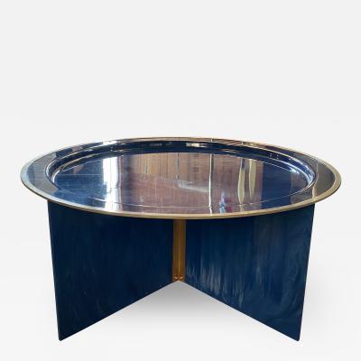 Mid Century Modern Blue Coffee Table Italy 1970