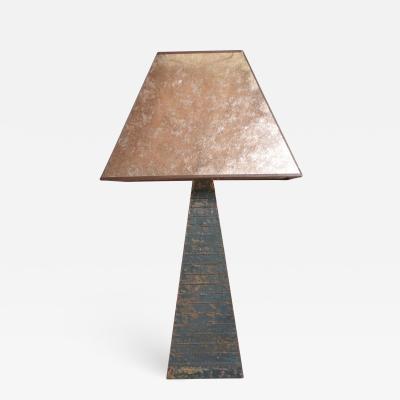 Mid Century Modern Brutalist Table Lamp