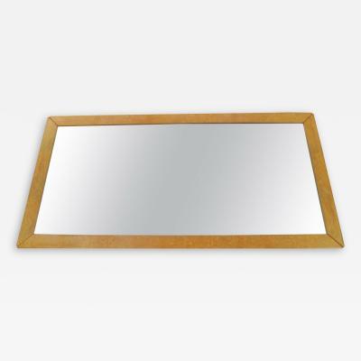 Mid Century Modern Burl Wood Wall Bathroom Mantle Full length Console Mirror