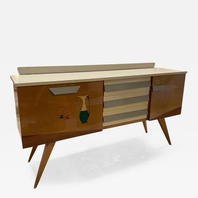 Mid Century Modern Credenza in Wood Italy 1960s