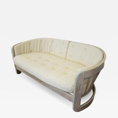 Mid Century Modern Curved Settee USA