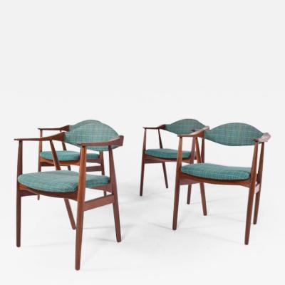 Mid Century Modern Danish Teak Dining Chairs 1960s