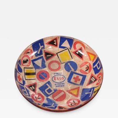Mid Century Modern Decorative Italian Bowl Advertising ESSO