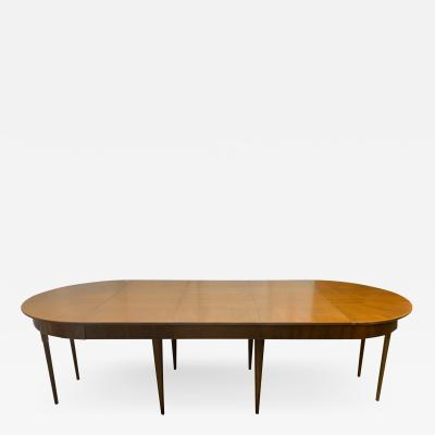 Mid Century Modern Dining Table with Three Extension Leaves