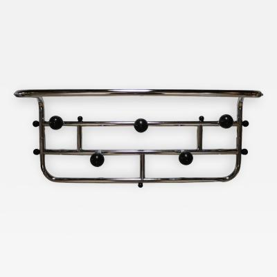 Mid Century Modern French Chrome Coat and Hat Rack