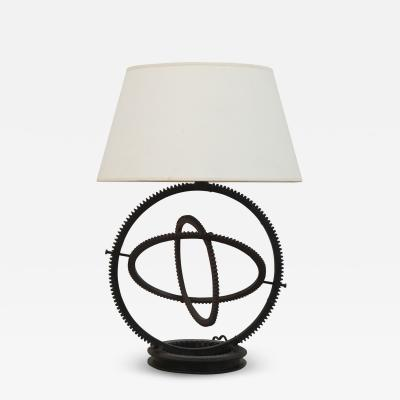 Mid Century Modern Gear Table Lamp