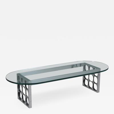 Mid Century Modern Glass Cocktail Table