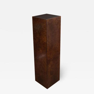 Mid Century Modern Handrubbed Bookmatched Burled Walnut Pedestal