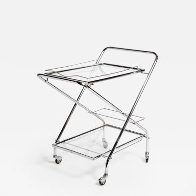 Mid Century Modern Hungarian Metal Serving Cart