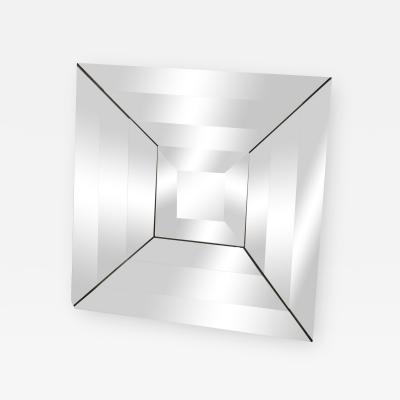 Mid Century Modern Italian Beveled Op Art Mirror