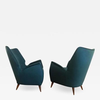 Mid Century Modern Italian Low Club Chairs