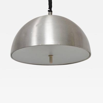 Mid Century Modern Italian Pendant Light Aluminum Adjustable