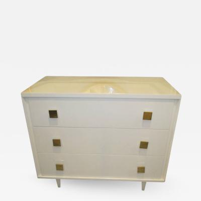Mid Century Modern Lacquered Chest of Drawers