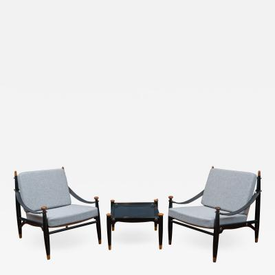 Mid Century Modern Lounge Chairs and Table