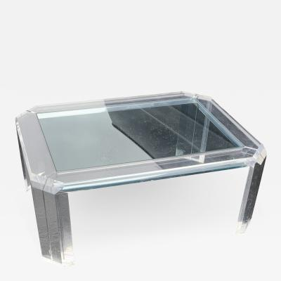 Mid Century Modern Lucite Coffee Table