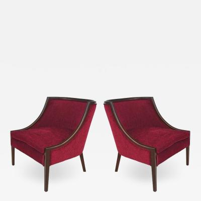Mid Century Modern Mahogany Club Chairs, Furniture In New Haven Ct