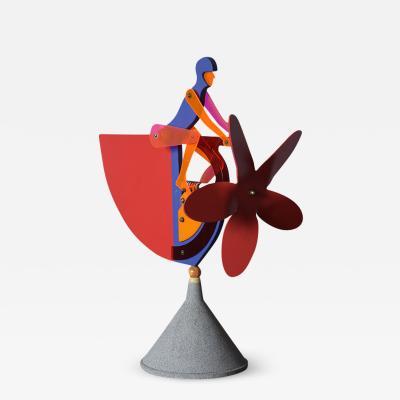 Mid Century Modern Mechanical Signed Sculpture