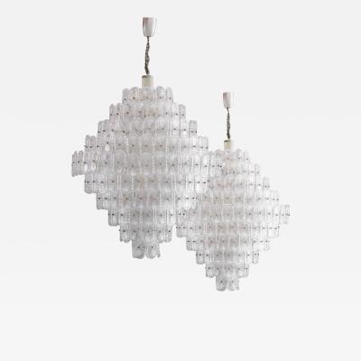 Mid Century Modern Murano Glass Italian Pendant Lamp