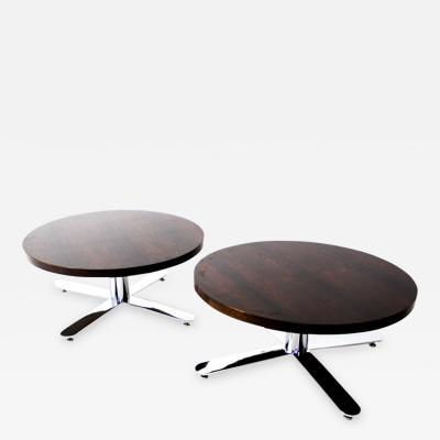 Mid Century Modern Pair of Rosewood Coffee Tables Brazil 1960s