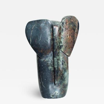 Mid Century Modern Sculptural Marble Elephant Figure