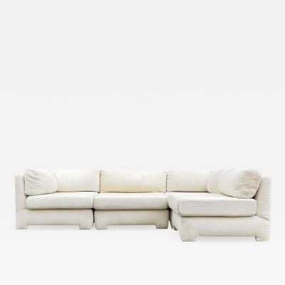 Mid Century Modern Sectional or Modular Parsons Sofa Set Left or Right Hand