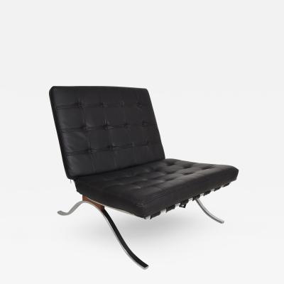 Mid Century Modern Selig Barcelona Chair Chrome Naugahyde