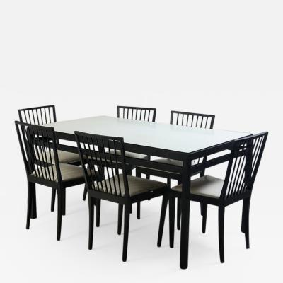 Mid Century Modern Set of Dining Table and 6 Chairs by M veis Flama Brazil