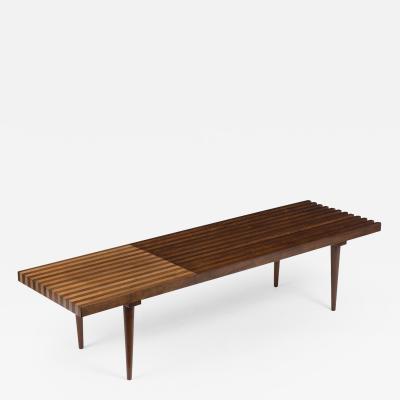 Mid Century Modern Slatted Bench