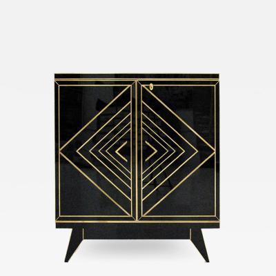 Mid Century Modern Style Opaline Glass Italian Sideboard