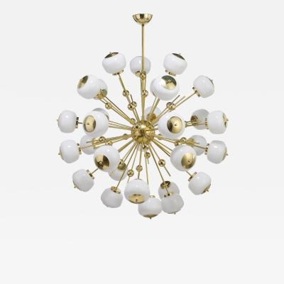 Mid Century Modern Style Sputnik Chandelier with Murano Glass Orbs
