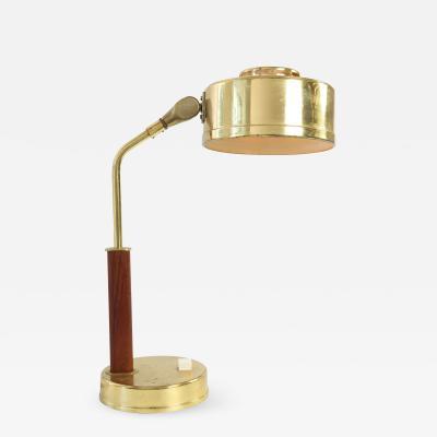 Mid Century Modern Swedish Drum Table Lamp