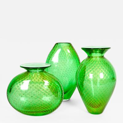 Mid Century Modern Three Pieces Murano Vases or Pieces