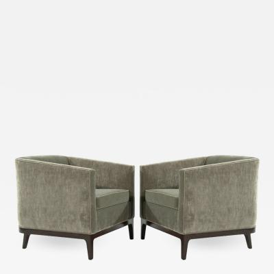 Mid Century Modern Tub Chairs in Chenille