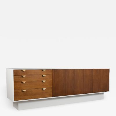 Mid Century Modern White Lacquered Credenza