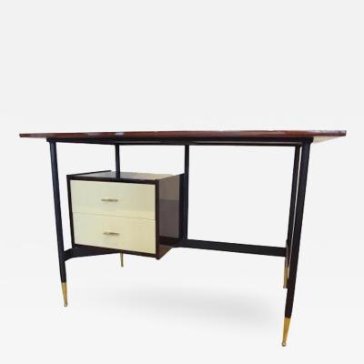 Mid Century Modern Writing Desk in Mahogany Italy Circa 1955