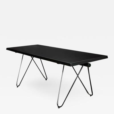 Mid Century Modern black lacquered console