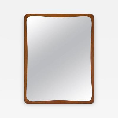 Mid Century Oak Rectangular Wall Mirror
