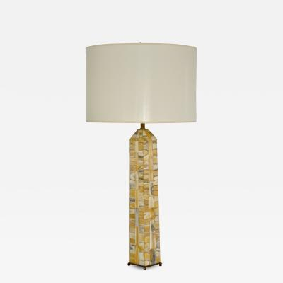 Mid Century Obelisk Form Table Lamp