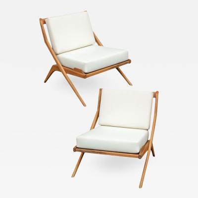 Mid Century Scissor Chairs