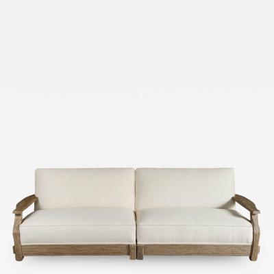 Mid Century Sofa in Distressed Oak Restored