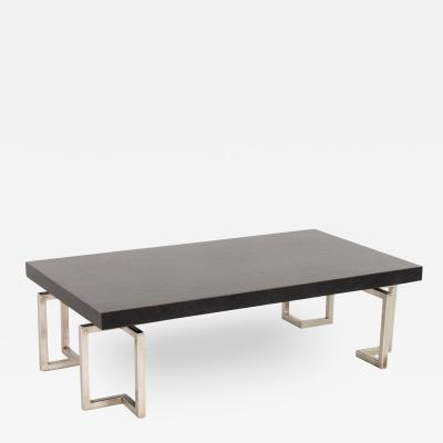 Mid Century Stainless Laminate Rectangular Coffee Table