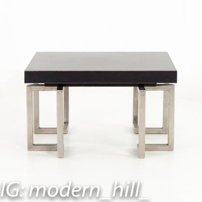 Mid Century Stainless Laminate Side End Table
