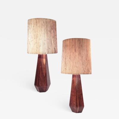 Mid Century Teak Lamps