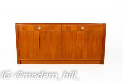 Mid Century Teak and Brass Sideboard Buffet Credenza