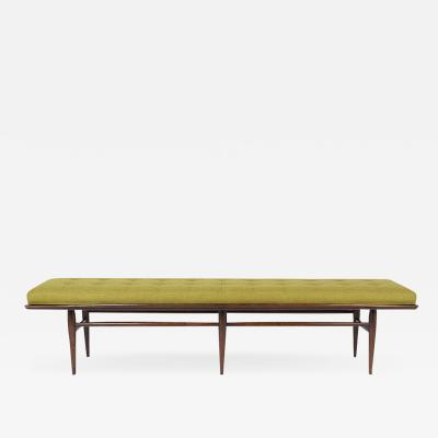Mid Century Tufted Low Bench