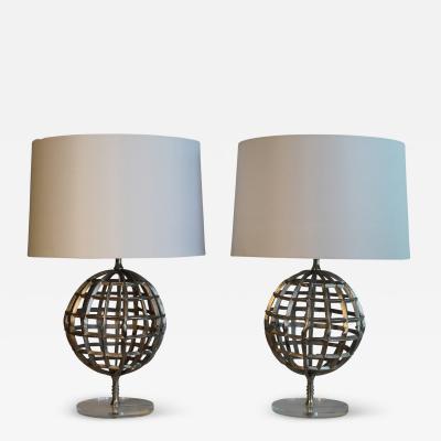 Mid Century Unisphere Table Lamps