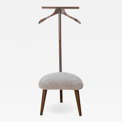 Mid Century Valet Chair in Walnut Lambswool